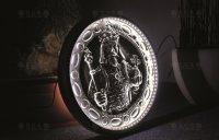 Světelná mince na Staroměstské náměstí