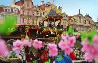 Dekorace velikonočních trhů, Praha Staroměstské náměstí
