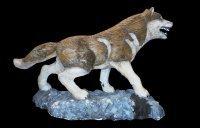 Vlk (srst, svítící červené oči)